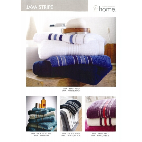Towel Catherine Lansfield Java Stripe 450gsm Black/ White Hand