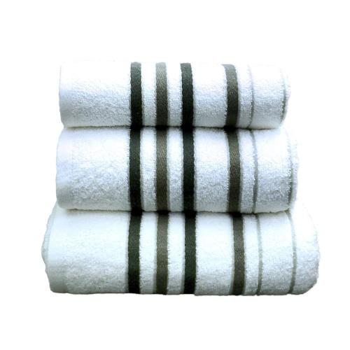 Towel Catherine Lansfield Java Stripe 450gsm Black/ White Bath Sheet