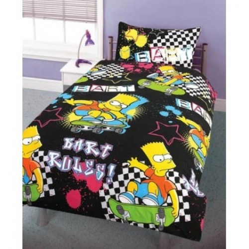 Bart Simpson Rotary Single Bed Duvet Quilt Cover Set