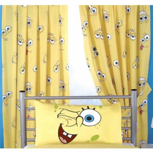 Spongebob Smiles 66 X 72 inch Drop Curtain Pair