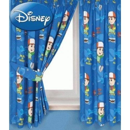 Disney Handy Manny Working 66 X 72 inch Drop Curtain Pair