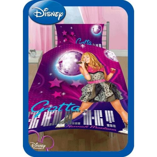 Disney Hannah Montana Rock Reversible Panel Single Bed Duvet Quilt Cover Set