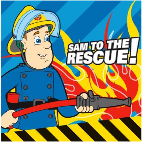 Fireman Sam Rescue Printed Cushion