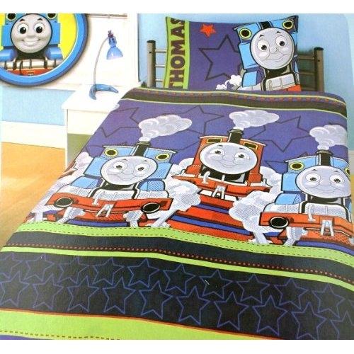 Thomas The Tank 'Stripes' Rotary Single Bed Duvet Quilt Cover Set ... : thomas single bed quilt cover - Adamdwight.com