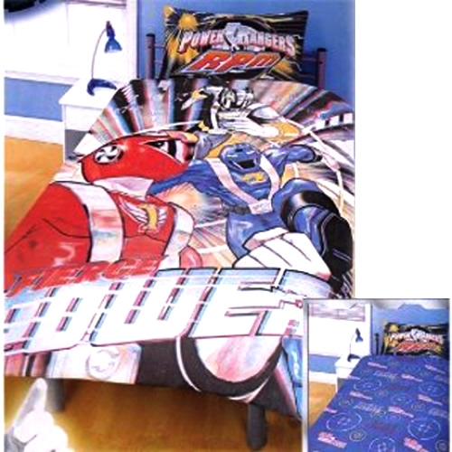 Power Rangers 'Power' 3d Reversible Panel Single Bed Duvet Quilt Cover Set