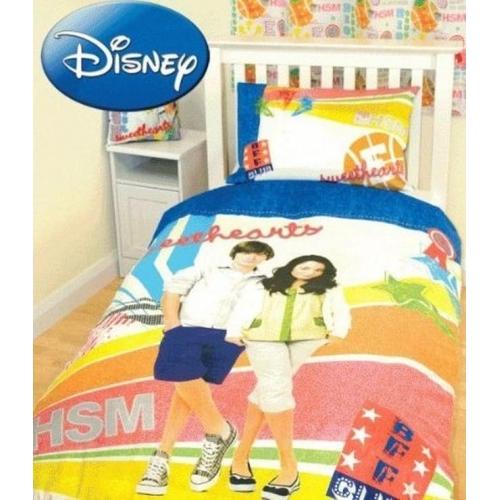 Disney High School Musical Club Panel Single Bed Duvet Quilt Cover Set
