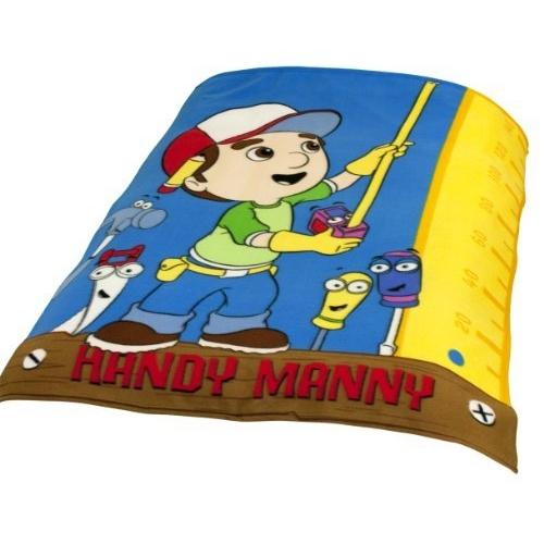 Handy Manny Work Panel Fleece Blanket Throw