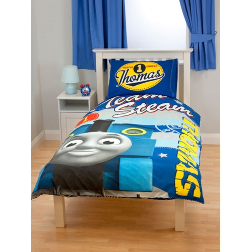 Thomas The Tank Engine & Friends Panel Single Bed Duvet Quilt ... : thomas single bed quilt cover - Adamdwight.com