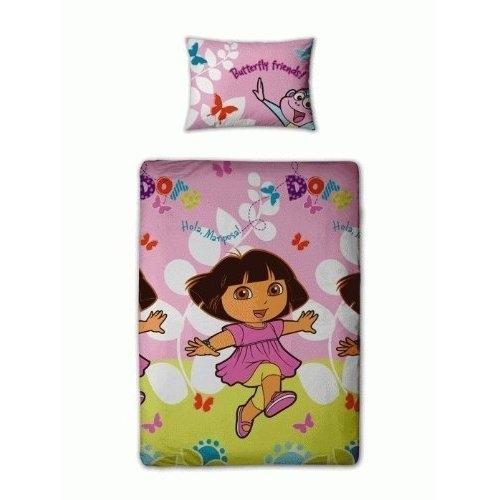 Dora The Explorer Play Rotary Single Bed Duvet Quilt Cover Set