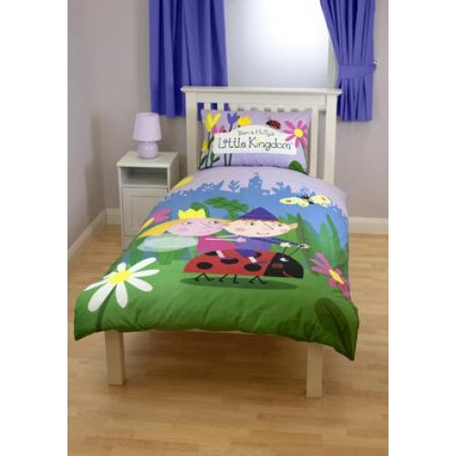 Ben Amp Holly Elves Panel Single Bed Duvet Quilt Cover Set