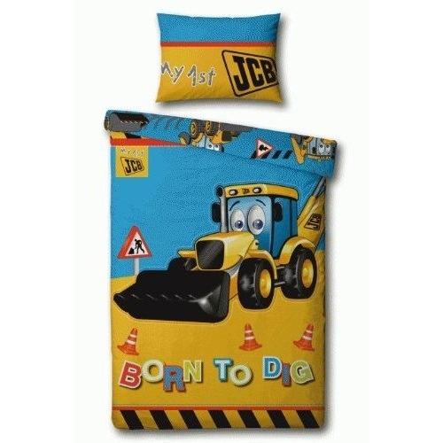 My 1st Jcb Dig Panel Single Bed Duvet Quilt Cover Set