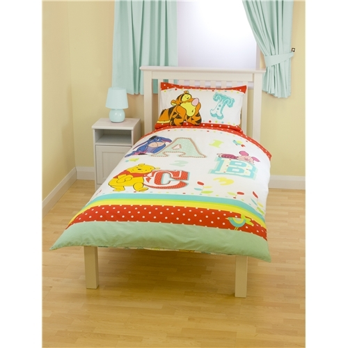 Disney Winnie The Pooh 'Playground' Revesible Panel Single Bed Duvet Quilt Cover Set