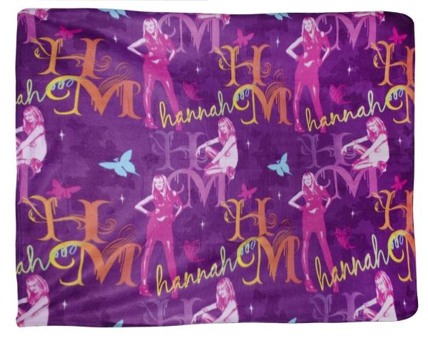 Disney Hannah Montana Gem Rotary Fleece Blanket Throw