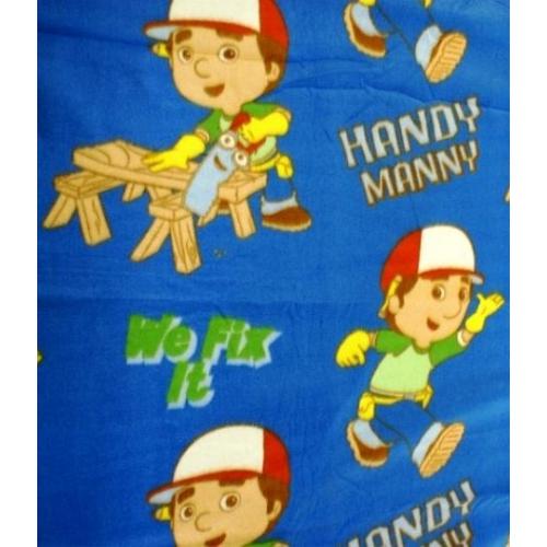 Disney Handy Manny Tools Rotary Fleece Blanket Throw