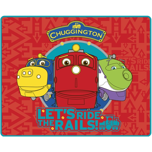 Chuggington - Let' S Ride The Rails Panel Fleece Blanket Throw
