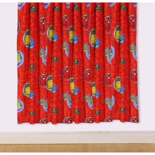 Chuggington 'Trantastic' 66 X 54 inch Drop Curtain Pair