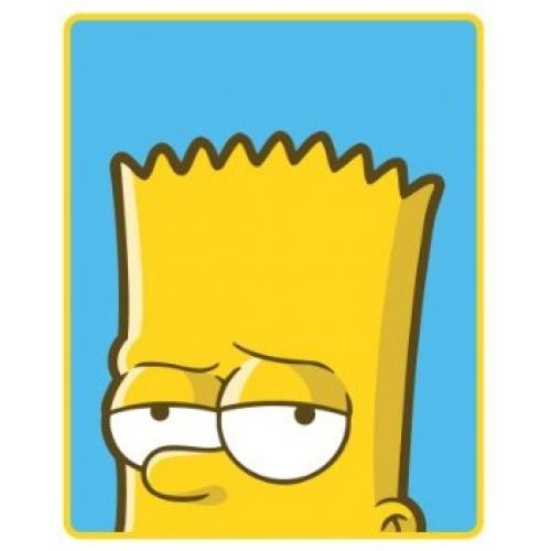 Bart Simpson Mischief Panel Fleece Blanket Throw