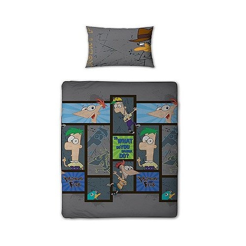 Phineas and Ferb Rotary Single Bed Duvet Quilt Cover Set