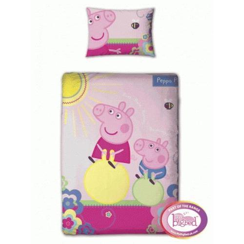 Peppa Pig - Adorable Panel Junior Cot Bed Duvet Quilt Cover Set