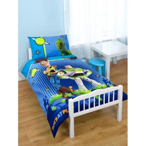 Disney Toy Story Space Panel Junior Cot Bed Duvet Quilt Cover Set