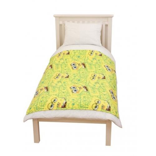 Spongebob Squarepants 'Head' Rotary Fleece Blanket Throw