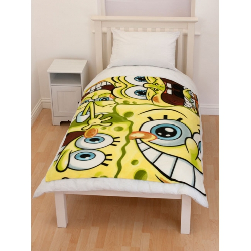 Spongebob Squarepants Head Panel Fleece Blanket Throw