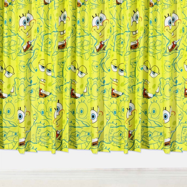 Spongebob Squarepants 66 X 72 inch Drop Curtain Pair