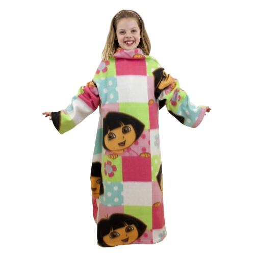 Dora The Explorer 'Buttons' Cosy Wrap Blanket Sleeved Fleece