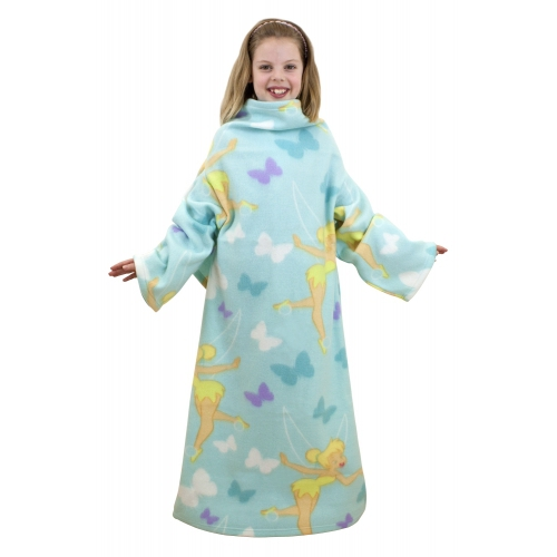 Disney Fairies Tinkerbell 'Imagine' Cosy Wrap Blanket Sleeved Fleece