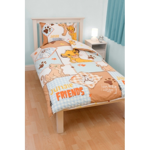 Disney The Lion King 'Cubs' Rotary Single Bed Duvet Quilt Cover Set
