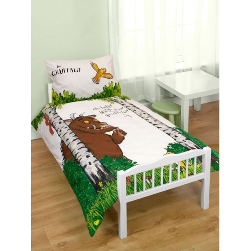 The Gruffalo 'Help' Panel Junior Cot Bed Duvet Quilt Cover Set