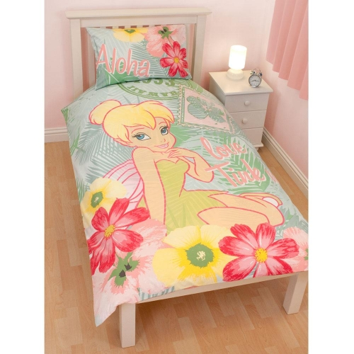 Disney Fairies 'Tiki' Love Tink Panel Single Bed Duvet Quilt Cover Set