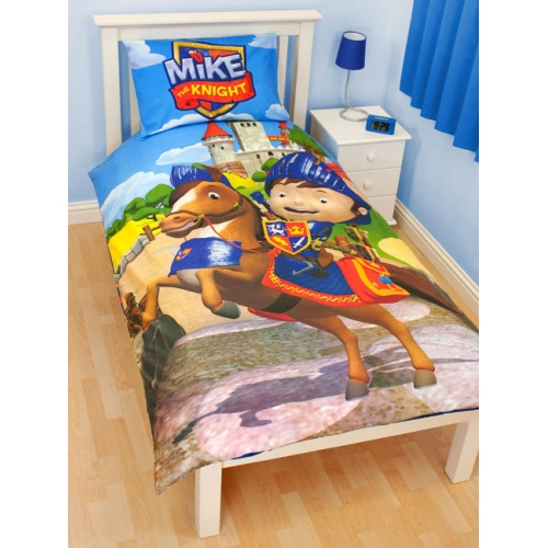 Mike The Knight 'Glendragon' Panel Single Bed Duvet Quilt Cover Set