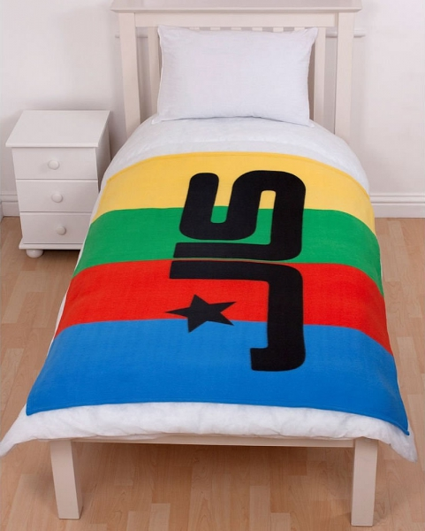 Jls 'Jukebox' Panel Fleece Blanket Throw