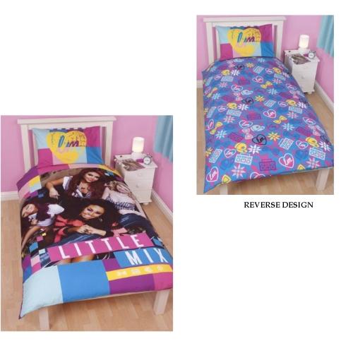 Little Mix 'Neon' Reversible Panel Single Bed Duvet Quilt Cover Set