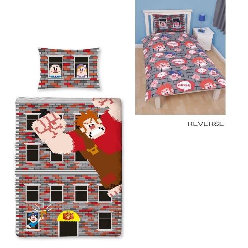 Disney Wreck It Ralph 'Smash' Reversible Panel Single Bed Duvet Quilt Cover Set