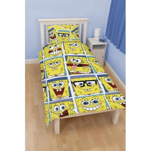 Spongebob Squarepants 'Framed' Rotary Single Bed Duvet Quilt Cover Set