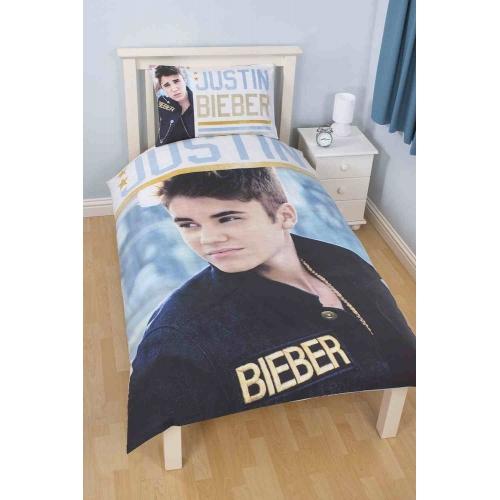 Justin Bieber 'Stars' Reversible Panel Single Bed Duvet Quilt Cover Set