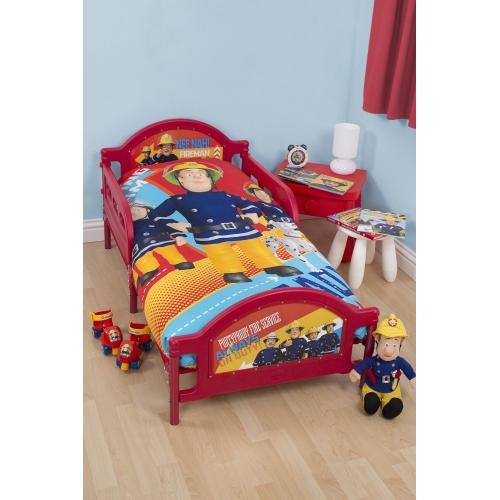 Fireman Sam 'Alarm' Panel Junior Cot Bed Duvet Quilt Cover Set