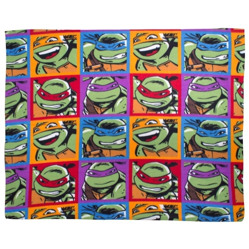Teenage Mutant Ninja Turtles 'Dudes' Rotary Fleece Blanket Throw