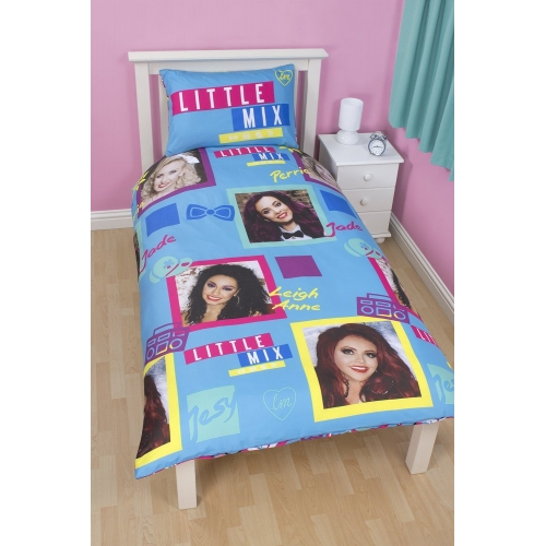 Little Mix Neon Rotary Single Bed Duvet Quilt Cover Set