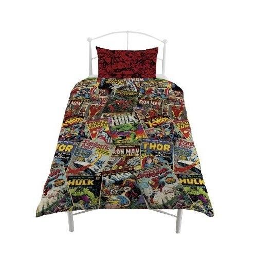 Marvel Comics Hero 'Avengers' Reversible Rotary Single Bed Duvet Quilt Cover Set