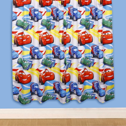Disney Cars Speed 66 X 72 inch Drop Curtain Pair
