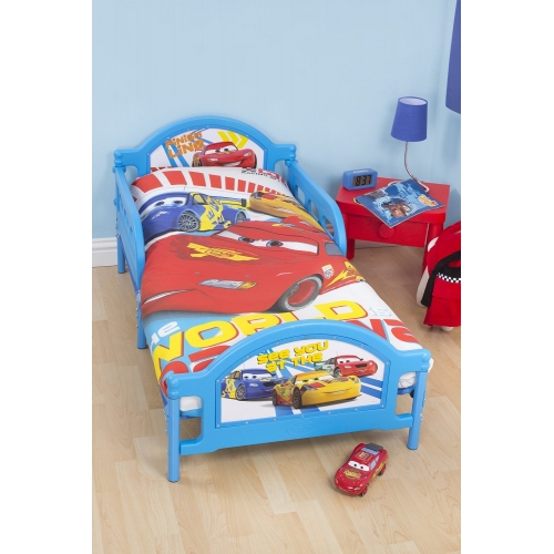 Disney Cars 'Speed' Panel Junior Cot Bed Duvet Quilt Cover Set