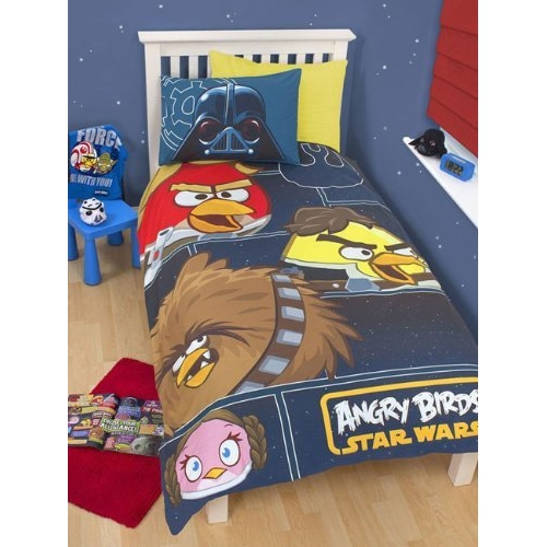 Angry Birds Star Wars 'Rebels' Panel Single Bed Duvet Quilt Cover Set