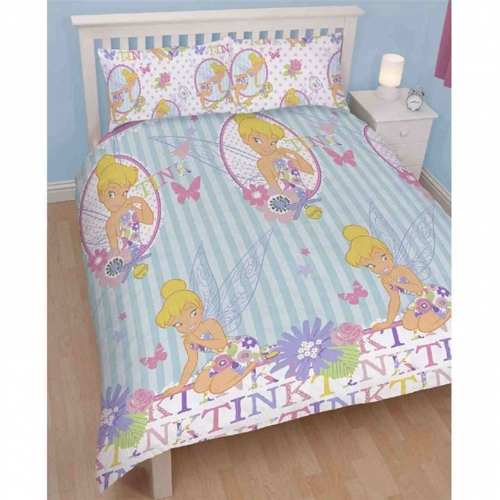 Disney Fairies 'Cherish' Reversible Rotary Double Bed Duvet Quilt Cover Set