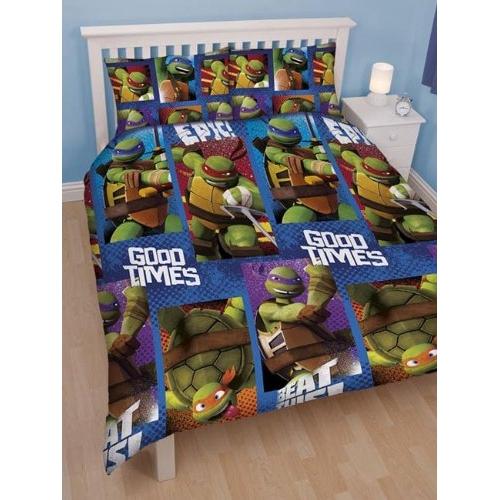 Teenage Mutant Ninja Turtles 'Dudes' Reversible Rotary Double Bed Duvet Quilt Cover Set