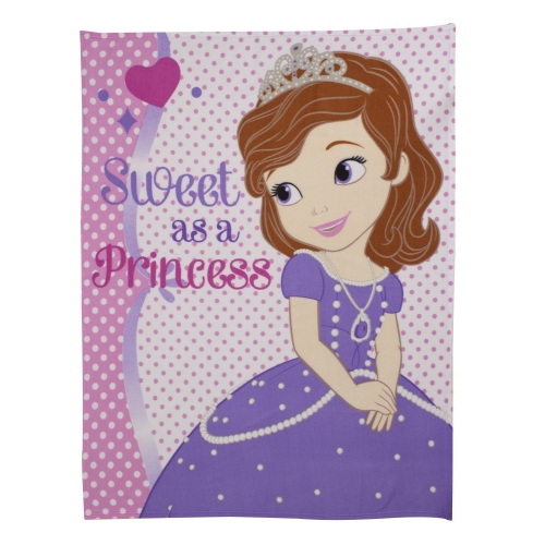Disney Sofia The First 'Amulet' Panel Fleece Blanket Throw 40 Custom Sofia The First Throw Blanket