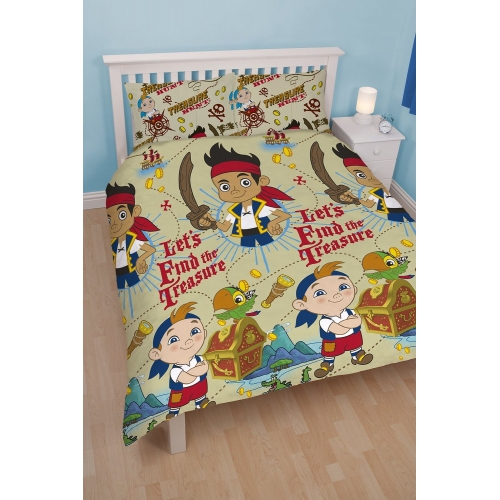 Disney Jake and The Neverland Pirates 'Treasure' Reversible Rotary Double Bed Duvet Quilt Cover Set