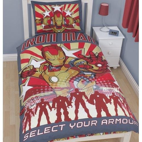 Iron Man 3 'Armour' Reversible Panel Single Bed Duvet Quilt Cover Set